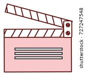 clapperboard cinema isolated... | Shutterstock .eps vector #727247548
