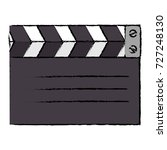 clapperboard cinema isolated... | Shutterstock .eps vector #727248130