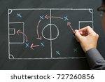 man planning for a football... | Shutterstock . vector #727260856
