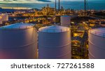top view shot from drone of oil ... | Shutterstock . vector #727261588