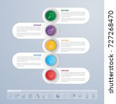 infographics template design... | Shutterstock .eps vector #727268470