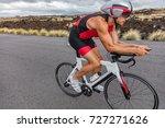 triathlon biking cyclist man... | Shutterstock . vector #727271626