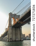 brooklyn bridge against the new ... | Shutterstock . vector #727271836