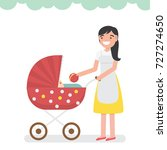 mom nanny baby sitter playing... | Shutterstock .eps vector #727274650