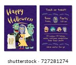 halloween party invitation with ... | Shutterstock .eps vector #727281274