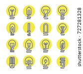 light bulb and led lamp icon... | Shutterstock .eps vector #727281328