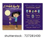 zombie party invitation with... | Shutterstock .eps vector #727281430