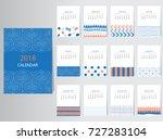 calendar 2018 vector design... | Shutterstock .eps vector #727283104