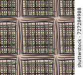 seamless checkered pattern.... | Shutterstock .eps vector #727284988