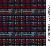 seamless checkered pattern.... | Shutterstock .eps vector #727285024