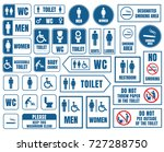 toilet vector signs set ... | Shutterstock .eps vector #727288750