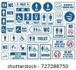 toilet vector signs set ...   Shutterstock .eps vector #727288750