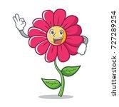 okay pink flower character...   Shutterstock .eps vector #727289254