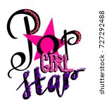 pop star girl t shirt design on ... | Shutterstock .eps vector #727292488