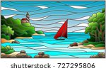 stained glass illustration with ... | Shutterstock .eps vector #727295806