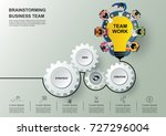 business meeting and... | Shutterstock .eps vector #727296004