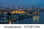 wat phra kaew  temple of the... | Shutterstock . vector #727297198