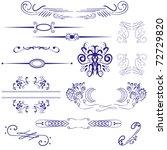 retro calligraphic design... | Shutterstock .eps vector #72729820