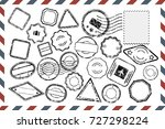 composition with collection of... | Shutterstock .eps vector #727298224