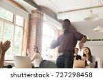 african american office worker... | Shutterstock . vector #727298458