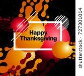 modern thanksgiving day...   Shutterstock .eps vector #727301014