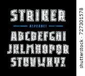 sans serif font with contour... | Shutterstock .eps vector #727301578
