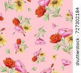 seamless watercolor pattern...   Shutterstock . vector #727302184