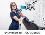 portrait of beautiful female...   Shutterstock . vector #727305508