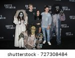 Small photo of LOS ANGELES - SEP 29: Nolan Gould, Levi Meaden, Ariel Winter at the Knott's Scary Farm and Instagram Celebrity Night at the Knott's Berry Farm on September 29, 2017 in Buena Parks, CA