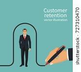 businessman draws a line... | Shutterstock .eps vector #727310470