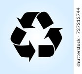 recycled cycle arrows vector...   Shutterstock .eps vector #727312744