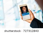 person from address book on... | Shutterstock . vector #727312843