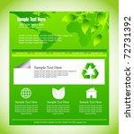 eco web design template | Shutterstock .eps vector #72731392