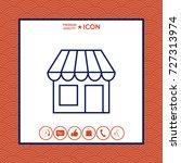 store symbol icon   Shutterstock .eps vector #727313974