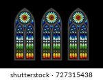 vector stained glass gothic... | Shutterstock .eps vector #727315438