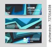 vector horizontal banner... | Shutterstock .eps vector #727316338