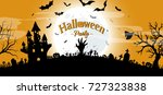 halloween party concept vector... | Shutterstock .eps vector #727323838
