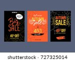 autumn sale background template.... | Shutterstock .eps vector #727325014