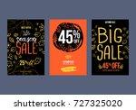 autumn sale background template.... | Shutterstock .eps vector #727325020