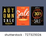 autumn sale background template.... | Shutterstock .eps vector #727325026