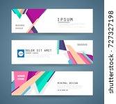 vector horizontal banner... | Shutterstock .eps vector #727327198