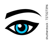 blue female eye isolated on... | Shutterstock . vector #727327396