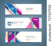 vector horizontal banner... | Shutterstock .eps vector #727327933