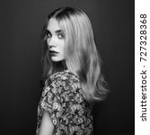 portrait of young beautiful... | Shutterstock . vector #727328368