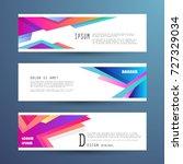 vector horizontal banner...   Shutterstock .eps vector #727329034
