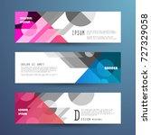 vector horizontal banner... | Shutterstock .eps vector #727329058