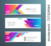 vector horizontal banner... | Shutterstock .eps vector #727329064