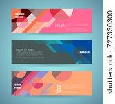 vector horizontal banner... | Shutterstock .eps vector #727330300