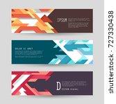 vector horizontal banner... | Shutterstock .eps vector #727330438