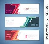 vector horizontal banner... | Shutterstock .eps vector #727330558